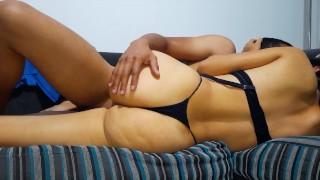 Hot Argentina fucks her sister's boyfriend and makes him cum inside