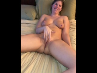 Wife was Horny and wanted to Get Off So I Filmed Her Cumming