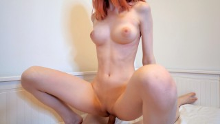 Hot Redhead Girl Swallows Cum After Hard Fuck - Cum in Mouth