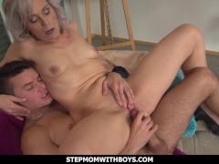 StepmomWithBoys - Sexy Stepmom Gets A Reward For Cleaning