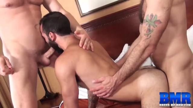 Hairy threesome men rough bareback breeding pornhub Breedmeraw Bearded Stephen Harte Raw Fucked In Threesome Pornhub Com