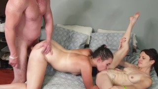 Boyfriend fucking me and my best friend | 3some mff