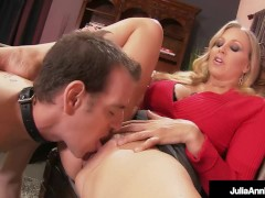Dickdifying Dame Julia Ann Can't Let Her BoyToy Cum Right?!