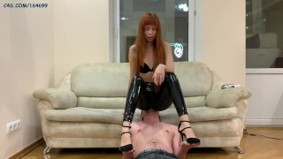 Skinny Goddess In Latex - Facesitting, Ass Smothering Femdom and Smoking Fetish [PREVIEW]