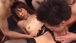 Strong sex spectacle along amazing Mao Saito