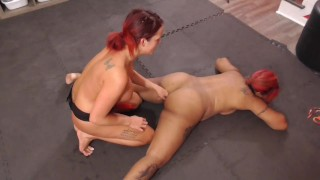 Academy - Interracial lesbians catfight and dominates each other with dildo fucking and pussy finger