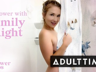 ADULT TIME Showering With Naturally Stacked Emily Right