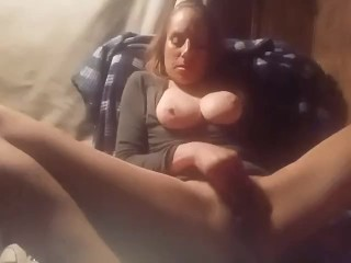 My hot blonde wife plays with her pussy