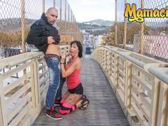 ChicasLoca - Suhaila Hard Big Booty Spanish MILF Wild Outdoor Fuck With Lucky Guy - MAMACITAZ