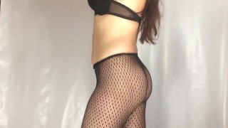 Fishnet pantyhose try on haul Hotlc (youtube version)