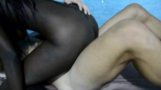 Black girl play to be my step sister and me step brother