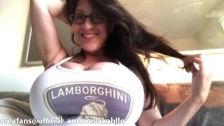Antonella Kahllo tits look massive in ultra tight top