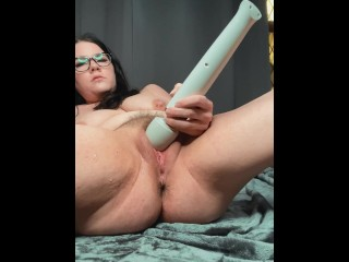 Upclose masturbating with my hitachi to multiple powerful squirts preview