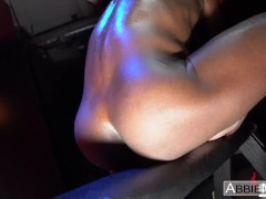 Petite Brunette Destroyed In A Web By 11 Inch Black Monster Cock - Abbie Maley