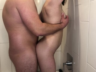 Couple Gets a Little Dirty Before Taking a Shower