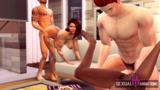 My Horny Girlfriend Turns Me On and We Swap With Friends (Swingers) - Sexual Hot Animations