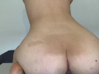 Dripping and creaming all over my dildo - Katiehottie