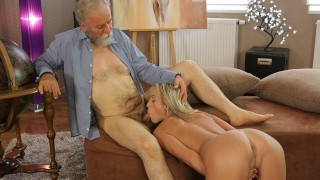 OLD4K. Experienced teacher doesnt waste chance to fuck hot disciple
