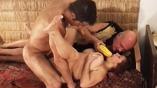 first rough threesome for stepgrandma