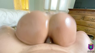 Big Ass Amateur Babe gets her Ass Destroyed and Creampied