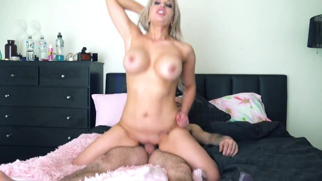 Blonde model filled with cum