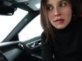 Накачал её рот спермой!!! Публичный секс в авто.
