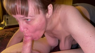 Visit college buddy and his mother invited me in and sucked my cock dry! She was one hungry granny!