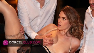 Torrid foursome for the hot French beauty Claire Castel