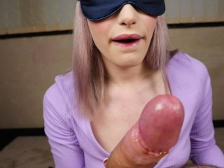 This schoolgirl gets naughty for me everytime. Blindfold play