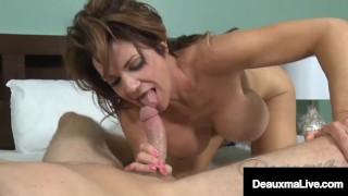 Big Boobed Cougar Deauxma Milks A Dick Full Of Cum!