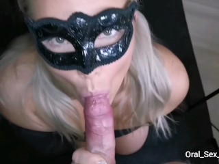 Blowjob and HUGE Cumshot in the funnel! All Swallowed.