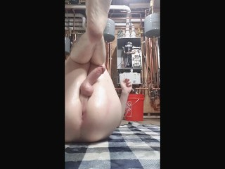 Sissy slut first time playing with oil