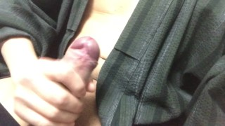 【For Women】Masturbating while moaning in a yukata. I ejaculated into my kimono