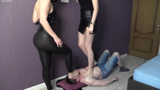 Goddesses stand towering above him dropping gobs of spit, snot and ash into his worthless waiting mo