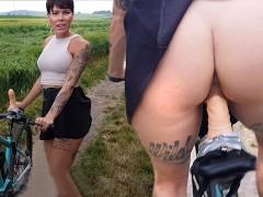 Pimp my Bike - Lara Bergmann fickt ihr Fahrrad!