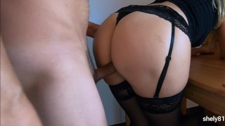 after school the teacher seduces the young student and they have sex without a condom