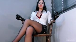 Chained Office Preview - Femdom POV - Goddess Kim