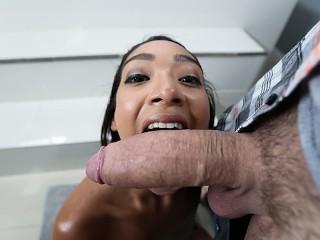 Petite Ebony Sarah Lace Plays With Big Cock best porn image
