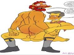 Simpsons cartoon porno