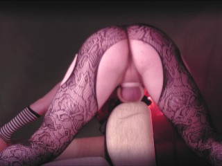 fucks wet pussy hard and cums hot with pleasure ( sissy trap crossdress )