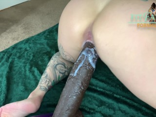 FITFAWNX -Petite Tattooed Babe Fucked by Huge HorseCock – wet creampie