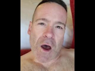 Self facial cum eating