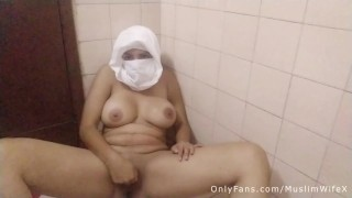 Real Arabian Mom Squirting In Hijabi Masturbates Creamy Pussy And Showing Big Tits Haram