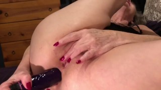 Hot Mature MILF DP Ass & Pussy With Dildos, Vibrator & Fingers Squirt! Pt 2