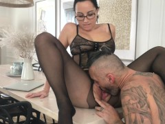 Sexy milf with big tits gets two dicks in the pussy and final creampie_Amateur Couple Kittie Cate