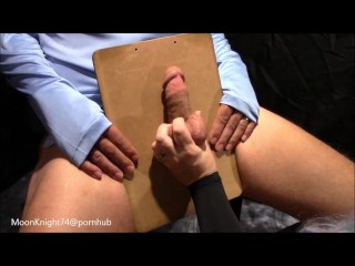 CBT I slap and punch his cock and balls till he cums