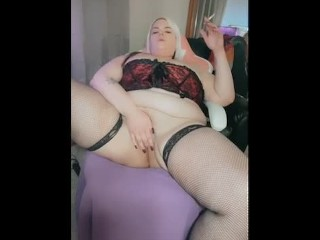Busty Bbw smoking in corset with heels!