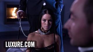 Submissive Megan Rain doubles the fun