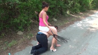 young gypsy princess riding slave joschi outdoor