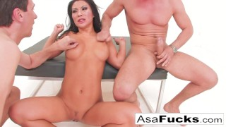 Sexy Asian Asa Akira's Double Anal and Double Penetration!